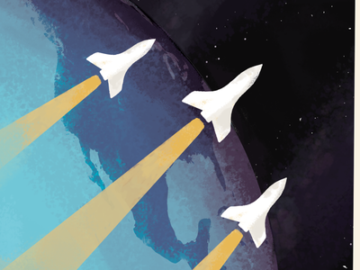 Missions Poster mission.io rockets space layout print poster photoshop illustration