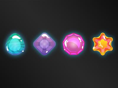 Gems sparkle jube-jube bubbly shine glow photoshop illustrator jewel app game gem