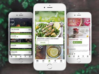 Organic Food Delivery UI healthy photoshop green snacks kale food mockup apple iphone ux ui organic