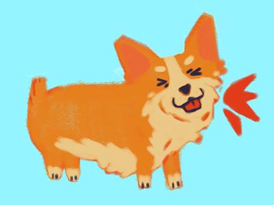 A loud pupper shout loud puppy dog photoshop illustration