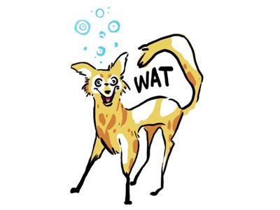 A Ditzy Dog funny wat photoshop illustration dog