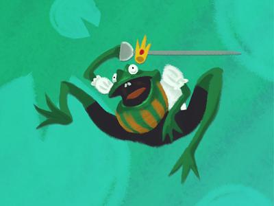 The Frog King character design photoshop illustration frog