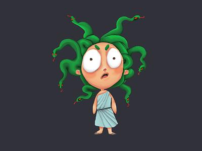 Medusa photoshop character design illustration