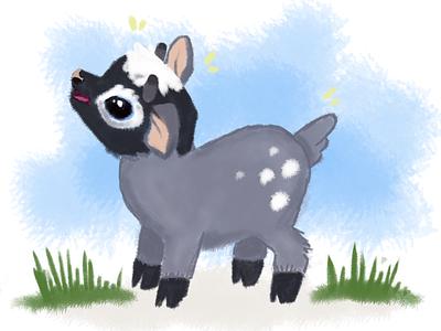 Kidding Around babygoat goat character design illustration art farm animals photoshop illustration