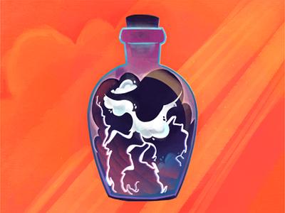 Lightning In A bottle ⚡ illustration art texture bottle lighting in a bottle procreate illustration