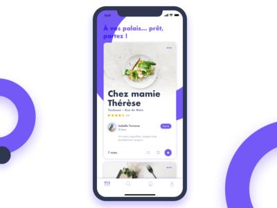 Chez mamie research social app advisor alexandre lartique ios 10 ios uxresearch healthy social restaurant app food app ux design ui app