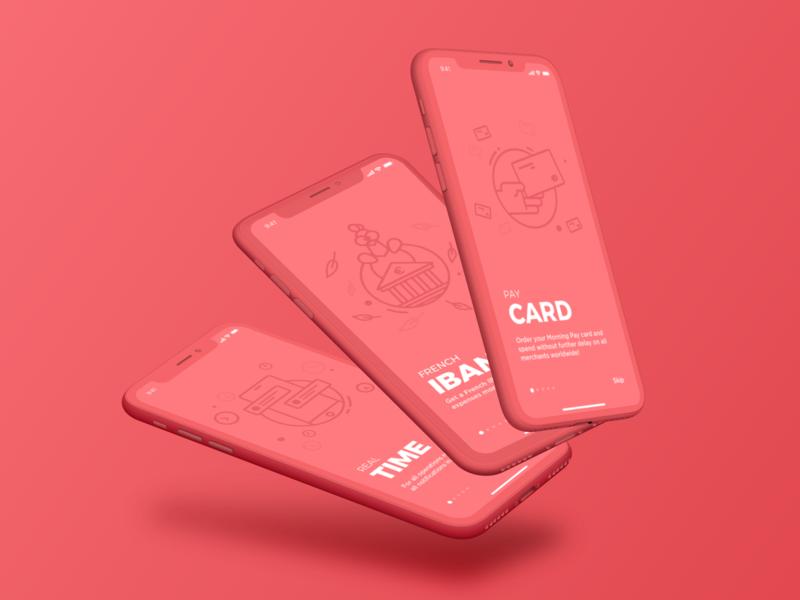 Morning illustrations alert card chicken mobile illustration market bank iphone x ios red design alexandre lartique ui ux app