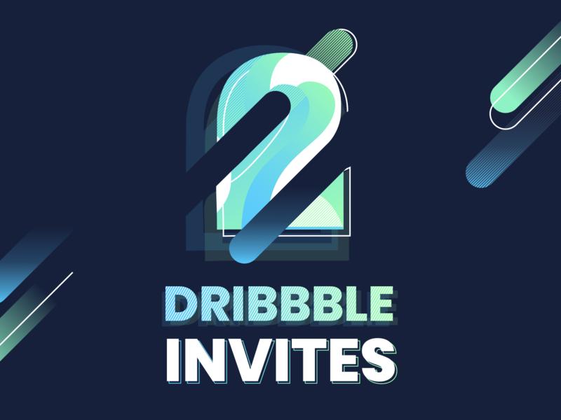 2 Dribbble invites welcome new player invite design invite2 win number two dark type design alexandre lartique illustration light invitation dribbble