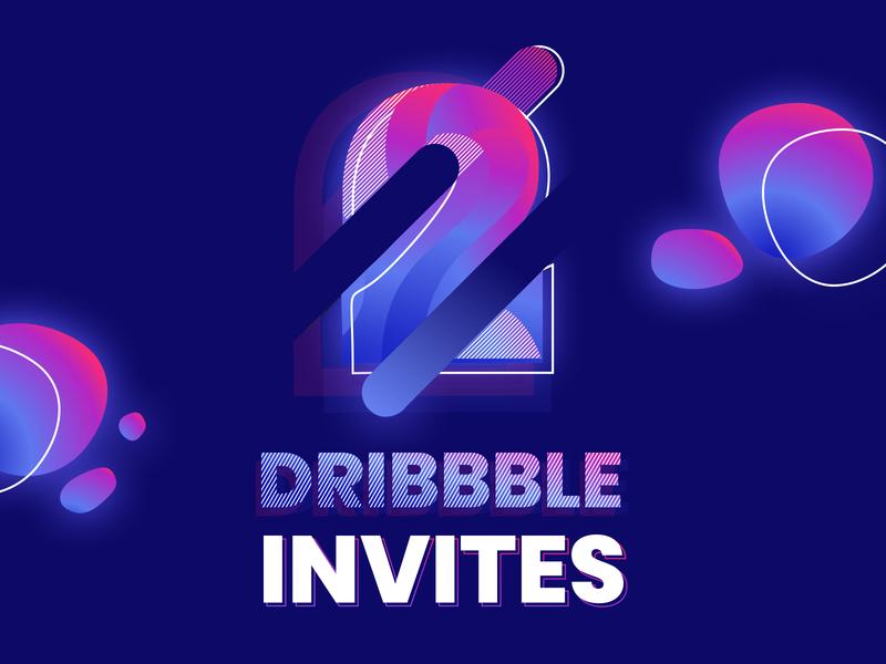 2 invitations 2 invites blue dribbble invites color bubble alexandre lartique design light invitation invites