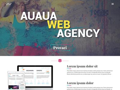 Landing page for web agency flat fresh landing