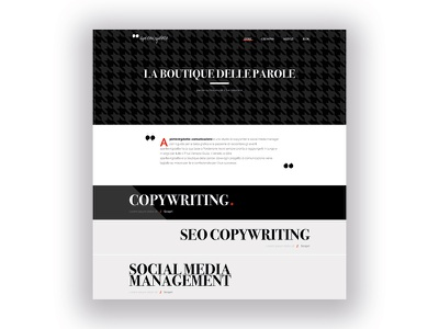 Apertevirgolette Homepage minimal blackwhite homepage website