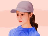 Happy Face Illustration illustration design potrait realism drawingart drawing korean digital art illustration art illustrations illustrator