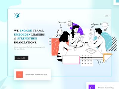 Startup Header Exploration website design web typography color landing illustration website design clean ux ui