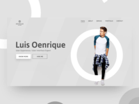 Portfolio website header