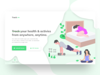 Fitness Tracking App Landing Page Header