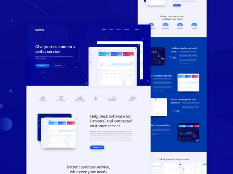 SWCAQ Dashboard Landing Page figma userinterfacedesign dark blue dark background dashboard design dashboard typography landing website clean ux ui