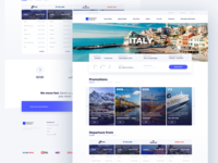 Krantas travel booking UI Homepage