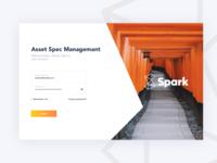 Spark login page UI