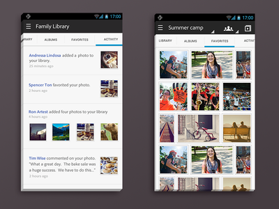 Android Photo App android ux design ui mobile