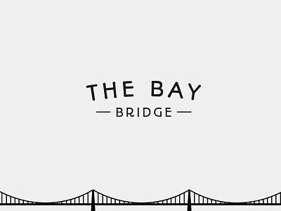 The Bay Bridge sf bay bridge golden gate logo branding vector