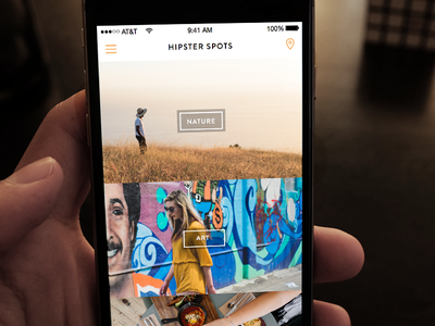 Hipster- explore view sketch ui ios explore hipster