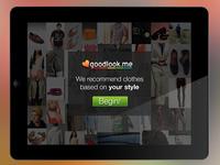 Goodlook Welcome Screen (iPad App)