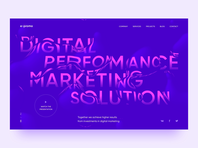 Homepage concept site uiux typogaphy marketing promo digital water animation simple web ui ux webdesign clean minimalism after affects website homepage design