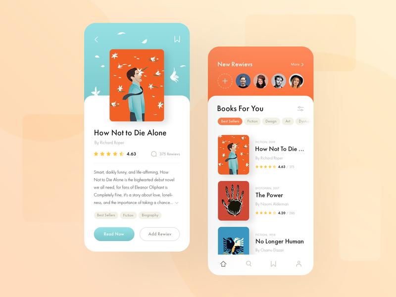 Reader app orange reading elegant iphone iosapp application design ui ux minimalism uiux simple clean app iphone app homepage books reader app reader ecommence