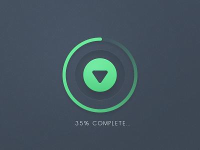 Download Button ui user interface button psd download percentage push loader preloader freebie