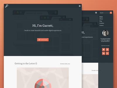 New Homepage simple minimal web design web site portfolio homepage flat clean orange