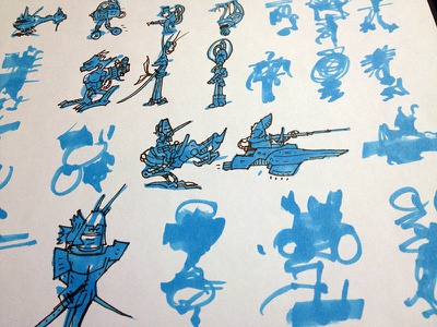 Character Design - Silhouette Exploration character design illustration drawing sketch notebook silhouette character concept exploration
