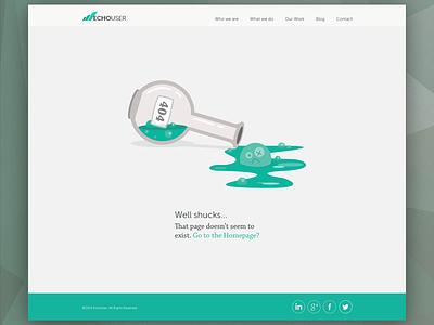 404 Page - EchoUser 2014 error 404 404 page web design green illustration