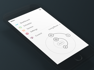Air Quality Analytics 4 minimal ui ios mobile ux menu control health simple