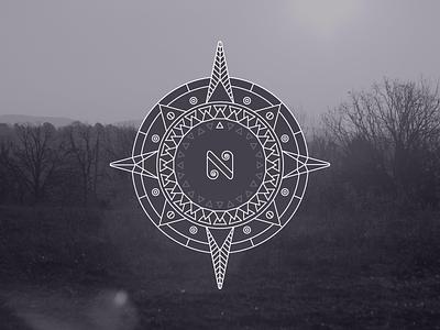 Compass geometric symmetrical symmetry compass line line art n north star radial