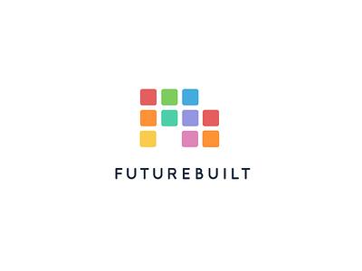 Futurebuilt Branding Final identity logotype colorful logo branding