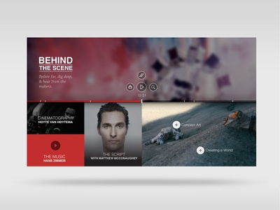 Movie Content Explorer - Content Screen masonry grid ui explorer content tv movies