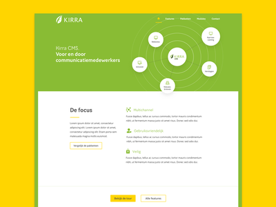 Kirra.nl redesign cms visual website iwink kirra webdesign web ux userinterface ui mobile design