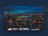 Binfinity - One Page Website