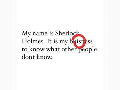 My name is Sherlock Holmes.