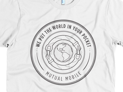 We put the world in your pocket on a shirt illustrator mutual mobile gotham goofy iphones hands butts ouroboros seal