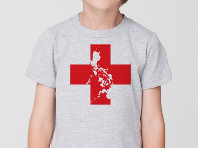 A Shirt for the Philippines kid shirt philippines typhoon haiyan red cross caring about people