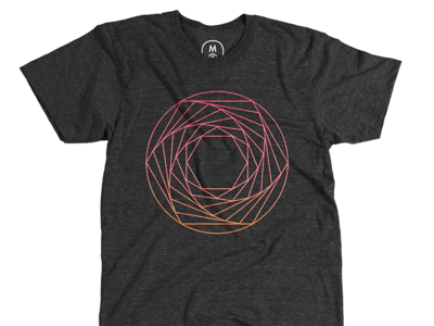 Aperture Spiral shirt cotton bureau geometric lines hexagons circle gradient