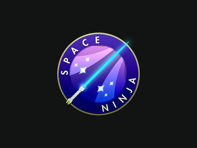 Space Ninja Title seal game lightsaber