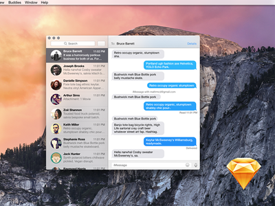 Yosemite Messages in Sketch sketch yosemite messages apple osx wip