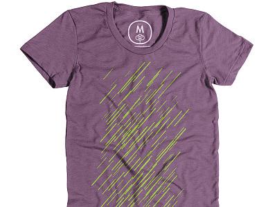 Green parallel lines shirt neon