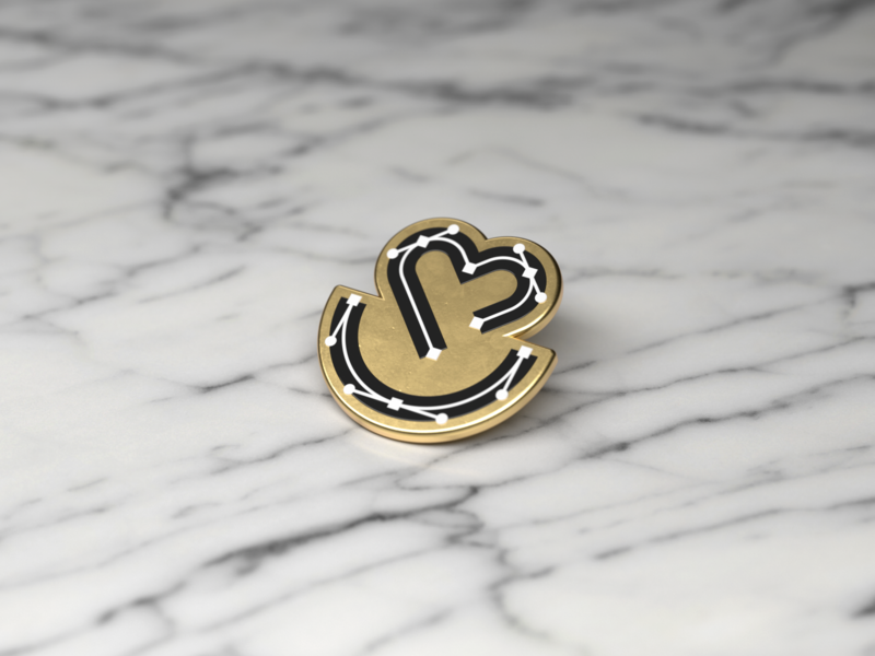 Design Team Enamel Pin branding beziers cinema 4d 3d enamel pins