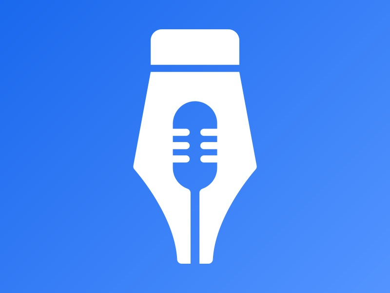 Designer Radio branding nib fountain pen negative space gestalt illustrator microphone