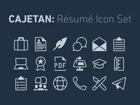 Icon Set for Résumés