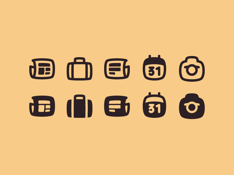 Squircle Icons camera calendar story article news feed news portfolio icon design icon superellipse squircle