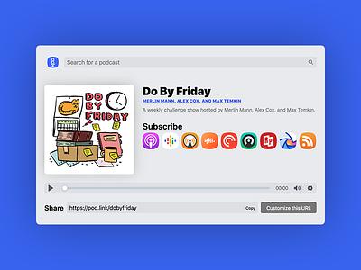 PodLink Web App podcasting web design